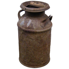 #11387 - Rusty Antique Milk Can image