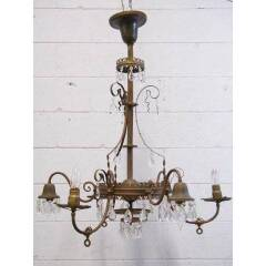 #12448 - Antique Brass 6-Arm Chandelier image