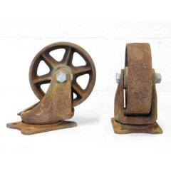 #12715 - Cast Iron Cart Wheels image