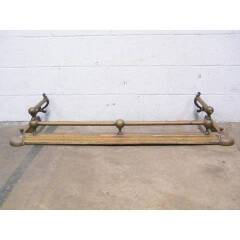 #16591 - Antique Brass Fireplace Fender image