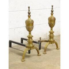 #19966 - Antique Sheffield Fireplace Andirons image