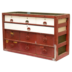 #21026 - Antique Wood Storage Cabinet image