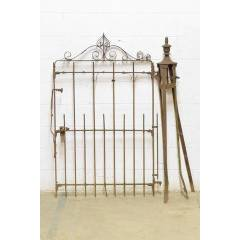 #21994 - Wrought Iron Garden Gate & Post image