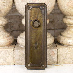 #22036 - Antique Metal Doorknob Backplate image
