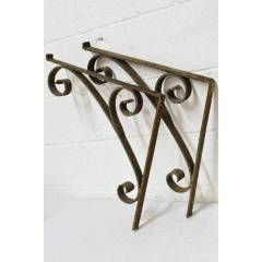 #22514 - Salvaged Wrought Iron Brackets image