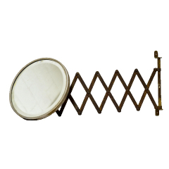 #23183 - Antique Round Shaving Mirror image