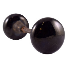 #24715 - Black Porcelain Doorknob Set image