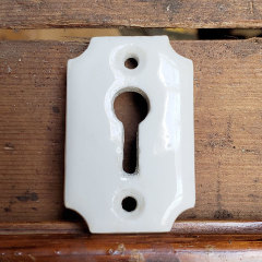 #26916 - Antique Porcelain Keyhole Escutcheon image