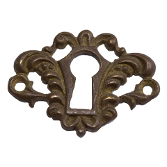 #27885 - Brass Keyhole Furniture Escutcheon image
