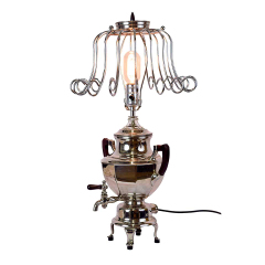 #28169 - Repurposed Coffee Urn Lamp image