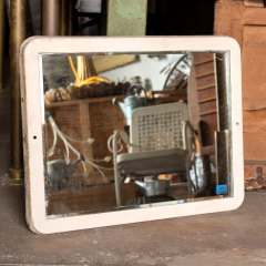 #30663 - Salvaged Industrial Beveled Mirror image