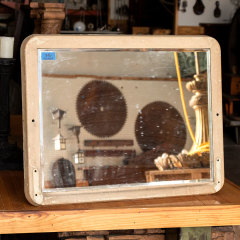 #30664 - Salvaged Industrial Beveled Mirror image