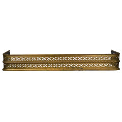 #30906 - Antique Brass Fireplace Fender image