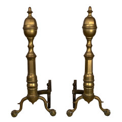 #31692 - Antique Brass Fireplace Andirons image