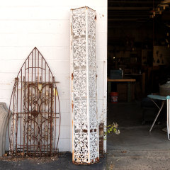 #31962 - Ornate Salvaged Cast Iron Porch Post image