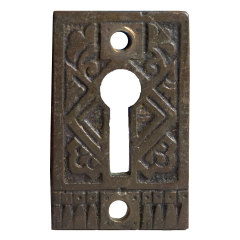 #32121 - Antique Brass Keyhole Escutcheon image