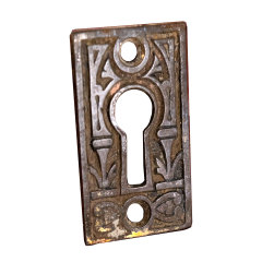 #32847 - Antique Brass Keyhole Escutcheon image