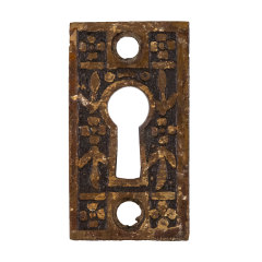 #32849 - Antique Brass Keyhole Escutcheon image