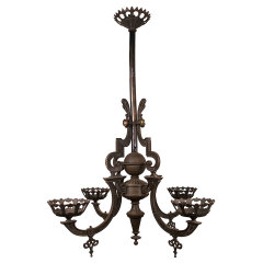 #33036 - Antique Oil Lamp Chandelier image