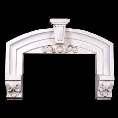 #33814 - Antique Zinc Window Pediment image