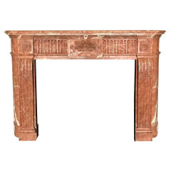 #34295 - Salvaged Marble Fireplace Mantel image