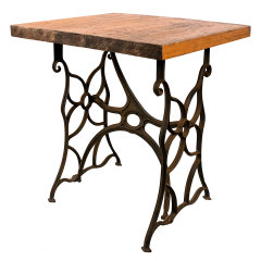 #35082 - Repurposed Wood and Iron Table image