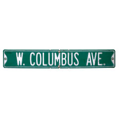#35108 - Vintage W COLUMBUS AVE Street Sign image
