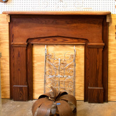 #36992 - Salvaged Wood Fireplace Mantel image