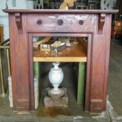 #36994 - Salvaged Wood Fireplace Mantel image