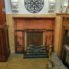 #36997 - Salvaged Wood Fireplace Mantel image