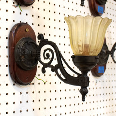 #37244 - Wall Sconce with Glass Shade image