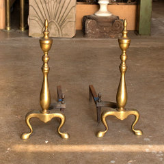 #37544 - Antique Brass Fireplace Andirons image