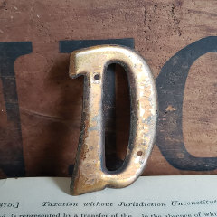 #37786 - Small Metal Letter D image