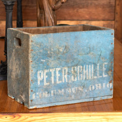 #38020 - Antique Peter Schille Wood Bottle Crate image