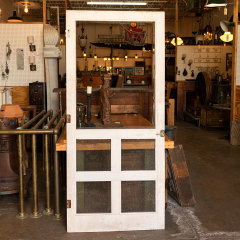 #38027 - Salvaged Vintage Wood Screen Door image
