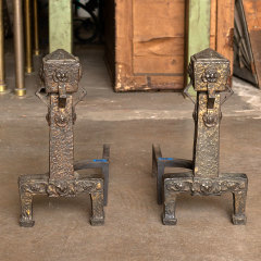 #38051 - Pair of Arts and Crafts Fireplace Andirons image
