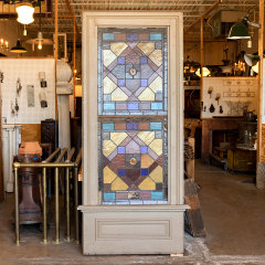 #38101 - Salvaged Stained Glass Stair Landing Window image