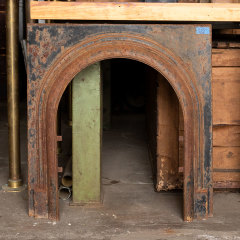 #38198 - Salvaged Cast Iron Fireplace Surround image