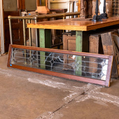 #38213 - Salvaged Leaded Glass Transom Window image