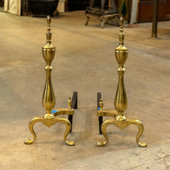 #38292 - Pair of Brass Fireplace Andirons image