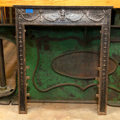 #38294 - Salvaged Ornate Cast Iron Fireplace Surround image