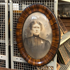 #38306 - Vintage Female Portrait Photo in Oval Frame image