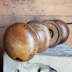 #38534 - Antique Wood Doorknob Set image