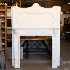 #38848 - Salvaged Painted Oak Fireplace Mantel image