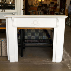 #38849 - Salvaged Painted Oak Fireplace Mantel image