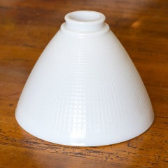 #38921 - Antique Ribbed Milk Glass Light Shade image