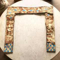 #5606 - Salvaged AET Figural Tile Fireplace Surround image