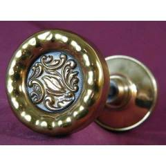 #6896 - Pair of Reading Eulalia Pattern Doorknobs image