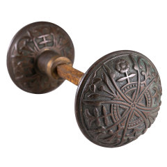 #7840 - Antique Bronze Lockwood Doorknobs image