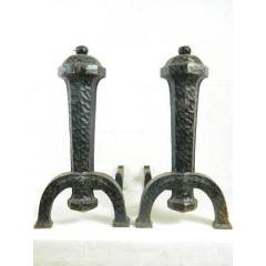 #8716 - Pair of Arts & Crafts Fireplace Andirons image